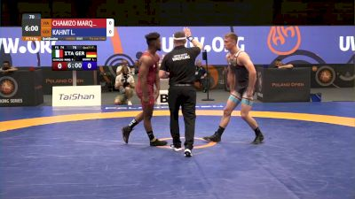 74kg Match - Frank Chamizo, ITA vs Lucas Kahnt, GER