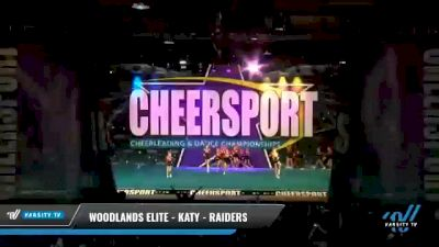 Woodlands Elite - Katy - Raiders [2021 L2 Youth - Small - B Day 1] 2021 CHEERSPORT National Cheerleading Championship