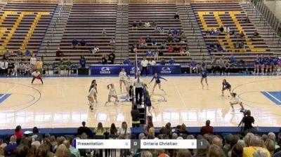 Presentation vs Ontario Christian - 2018 Girls California State Volleyball Championships