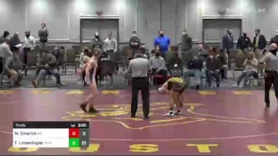 152 lbs Final - Michael Emerick, MD vs Ty Linsenbigler, WPIAL
