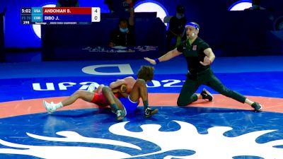 70 kg Repechage #3 - Bryce Andonian, USA vs Josley Dibo, COD