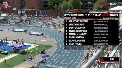Boys' 400m Hurdles, Prelims - Age 15-16