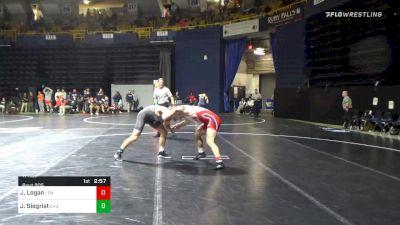 174 lbs Prelims - Jake Logan, Lehigh vs Jared Siegrist, Lock Haven