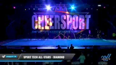 Spirit Tech All-Stars - Diamond [2021 L2 Senior - D2 - Small Day 1] 2021 CHEERSPORT National Cheerleading Championship