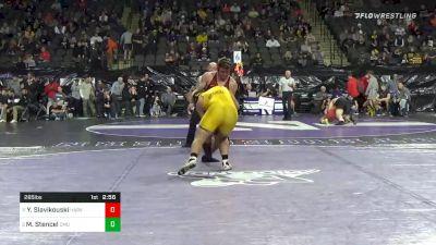 285 lbs Quarterfinal - Yaraslau Slavikouski, Harvard vs Matt Stencel, Central Michigan