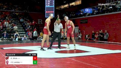 165 lbs Prelims - Evan Wick, Wisconsin vs Diego Lemley, Indiana