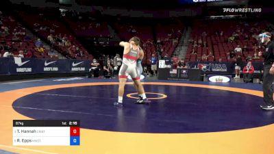 87 kg Quarters - Tyler Hannah, Combat W.C. School Of Wrestling vs Ryan Epps, Minnesota Storm