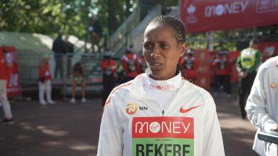 Ashete Bekere Places Third