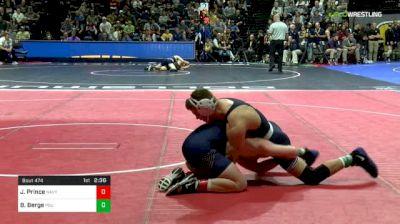 149 lbs Quarterfinal - Jared Prince, Navy vs Brady Berge, Penn State