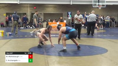 Consolation - Max Wohlabaugh, Clarion-Unattached vs Chase Archangelo, Cleveland State