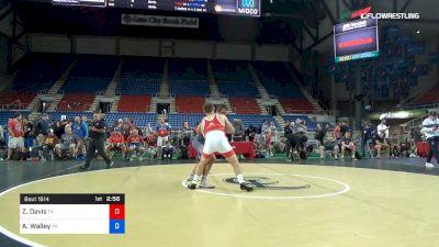 195 lbs Cons 8 #1 - Zane Davis, Texas vs Austin Walley, Pennsylvania