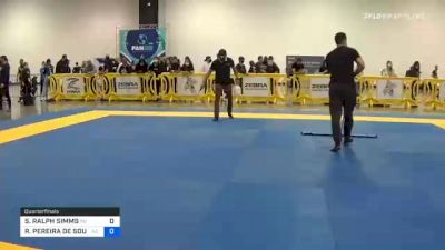 STEPHEN RALPH SIMMS vs RONALDO PEREIRA DE SOUZA JÚNIOR 2020 IBJJF Pan No-Gi Championship
