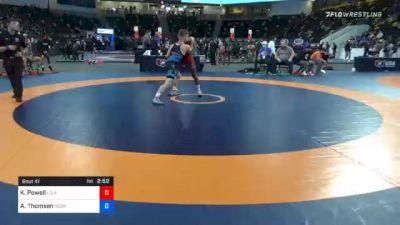 60 kg Quarterfinal - KeVon Powell, Louisiana vs Alex Thomsen, Nebraska Wrestling Training Center