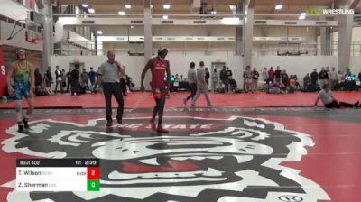 133 lbs Final - Tariq Wilson, NCSU Unattached vs Zach Sherman, UNC Unattached