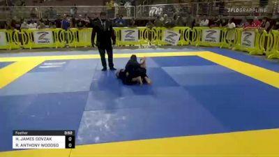 HUNTER JAMES DOVZAK vs RAIDEN ANTHONY WOODSON 2021 Pan Kids Jiu-Jitsu IBJJF Championship