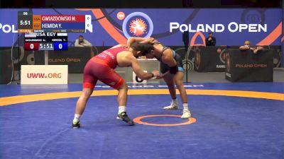 125 kg Semifinal - Nick Gwiazdowski, USA vs Youssif Hemida, USA