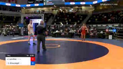 74 kg 7th Place - Joey Lavallee, TMWC / Valley RTC vs Danny Braunagel, Illinois Regional Training Center/Illini WC