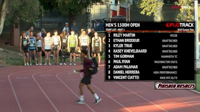 Open Men's 1500m - Jordan Mann 3:39!