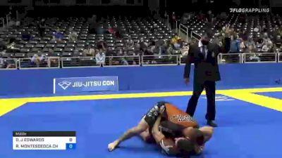 DAVID J EDWARDS vs RICHARD MONTESDEOCA CHALK 2021 World IBJJF Jiu-Jitsu No-Gi Championship