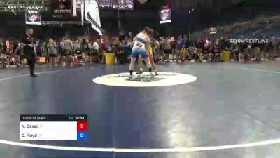 195 lbs Consi Of 16 #2 - Nicholas Casad, Indiana vs Carson Floyd, North Carolina