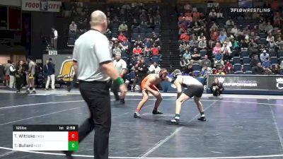 165 lbs 3rd Place - Travis Wittlake, Oklahoma State vs Thomas Bullard, NC State