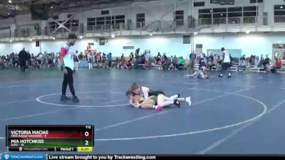112 lbs Round 3 (4 Team) - Mia Hotchkiss, Ohio vs Victoria Macias, Free Range Chickens