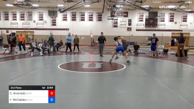 145 lbs 3rd Place - Caleb Alvarado, Shore Thing Wrestling Club vs Finnegan Mcfadden, Seagull Wrestling Club