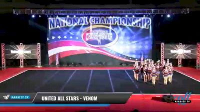 United All Stars - Venom [2021 L4 Senior - D2 Day 2] 2021 ACP: Midwest World Bid National Championship