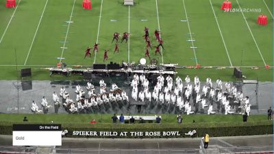 Gold at 2021 Drum Corps at the Rose Bowl