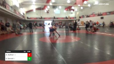 120 lbs 3rd Place - Armando Keifner, NB vs Sammy Gerard, QT