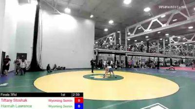 106 lbs Rr Rnd 1 - Tiffany Stoshak, Wyoming Seminary vs Hannah Lawrence, Wyoming Seminary