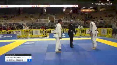 JOHN ROWAN CANTILLO vs KENNETH BERNAL SOLOMON 2020 World Master IBJJF Jiu-Jitsu Championship