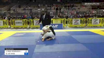 JOHN PAUL KICKBUSCH vs DONALD LEE WING 2021 Pan Jiu-Jitsu IBJJF Championship
