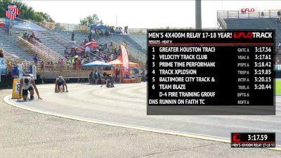 Boys' 4x400m Relay, Finals 9 - Age 17-18