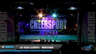 Las Vegas Elements - Windstorm [2021 L2 Junior - D2 - Small - B Day 1] 2021 CHEERSPORT National Cheerleading Championship