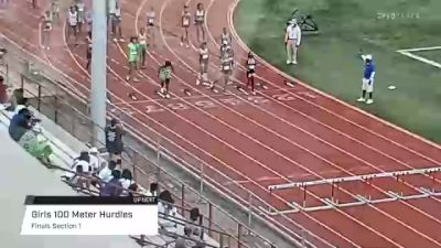 Youth Girls' 100m Hurdles, Finals 1 - Age 17-18