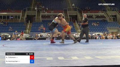 285 lbs Cons Semis - Alex Coleman, Ohio vs Nash Hutmacher, South Dakota