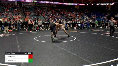 184 lbs Semifinal - Dakota Geer, Oklahoma State vs Drew Foster, Northern Iowa