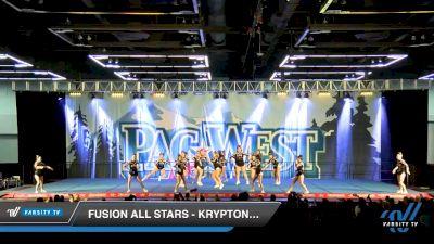 Fusion All Stars - Kryptonite [2020 L3 Senior - Small Day 1] 2020 PacWest