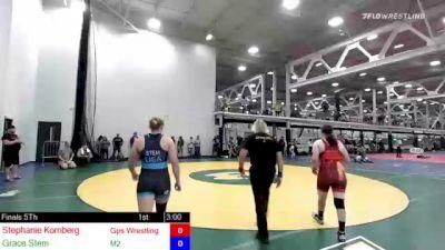 155 lbs Rr Rnd 1 - Stephanie Kornberg, Gps Wrestling Club vs Grace Stem, M2