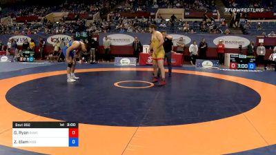 125 kg Consolation - Garrett Ryan, Sunkist Kids Wrestling Club vs Zach Elam, Missouri RTC