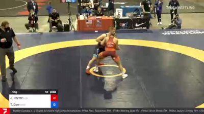 77 kg Final - Jesse Porter, New York Athletic Club vs Tyler Dow, Wisconsin Regional Training Center