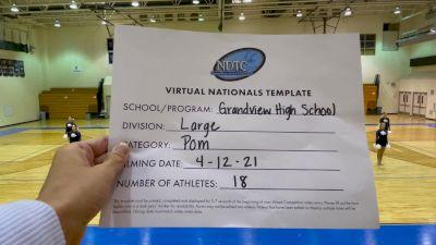 Grandview High School [Large Varsity - Pom Virtual Finals] 2021 UDA National Dance Team Championship
