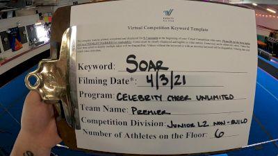 Celebrity Cheer Unlimited - Premier [L2 Junior - Non-Building] 2021 The Regional Summit Virtual Championships
