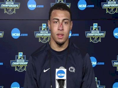 Aaron Brooks (Penn State) after 184-pound semifinal win at 2021 NCAA Championships