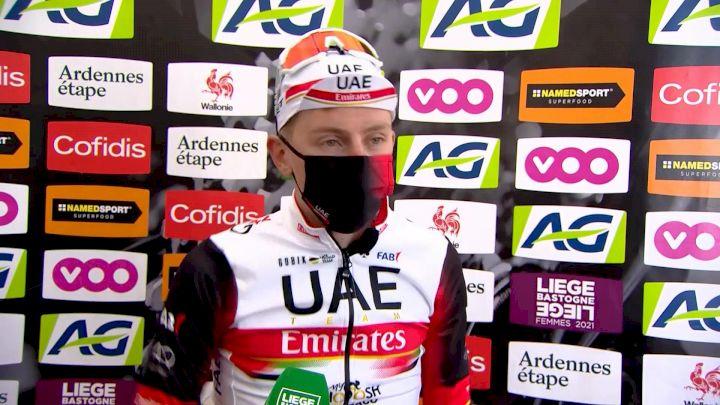 Liège-Bastogne-Liège: Tadej Pogacar Reacts To Incredible Finish