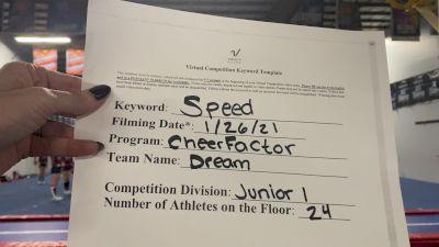 Cheer Factor - Dream [L1 Junior - Medium] 2021 Varsity All Star Winter Virtual Competition Series: Event I
