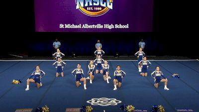St Michael Albertville High School [2021 Small Junior Varsity Finals] 2021 UCA National High School Cheerleading Championship