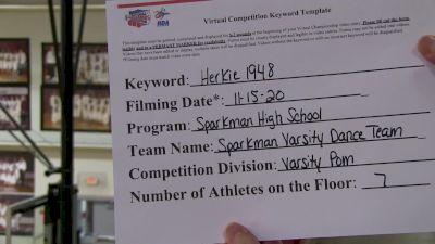 Sparkman High School [Small Varsity Pom] 2020 NDA November Virtual Championship