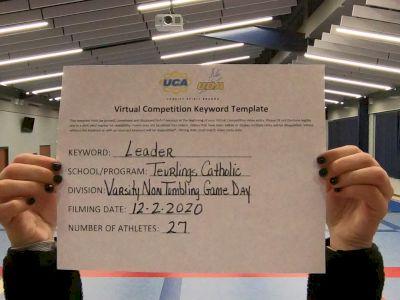 Teurlings Catholic High School [Game Day Varsity NonTumble] 2020 UCA Louisiana Virtual Regional